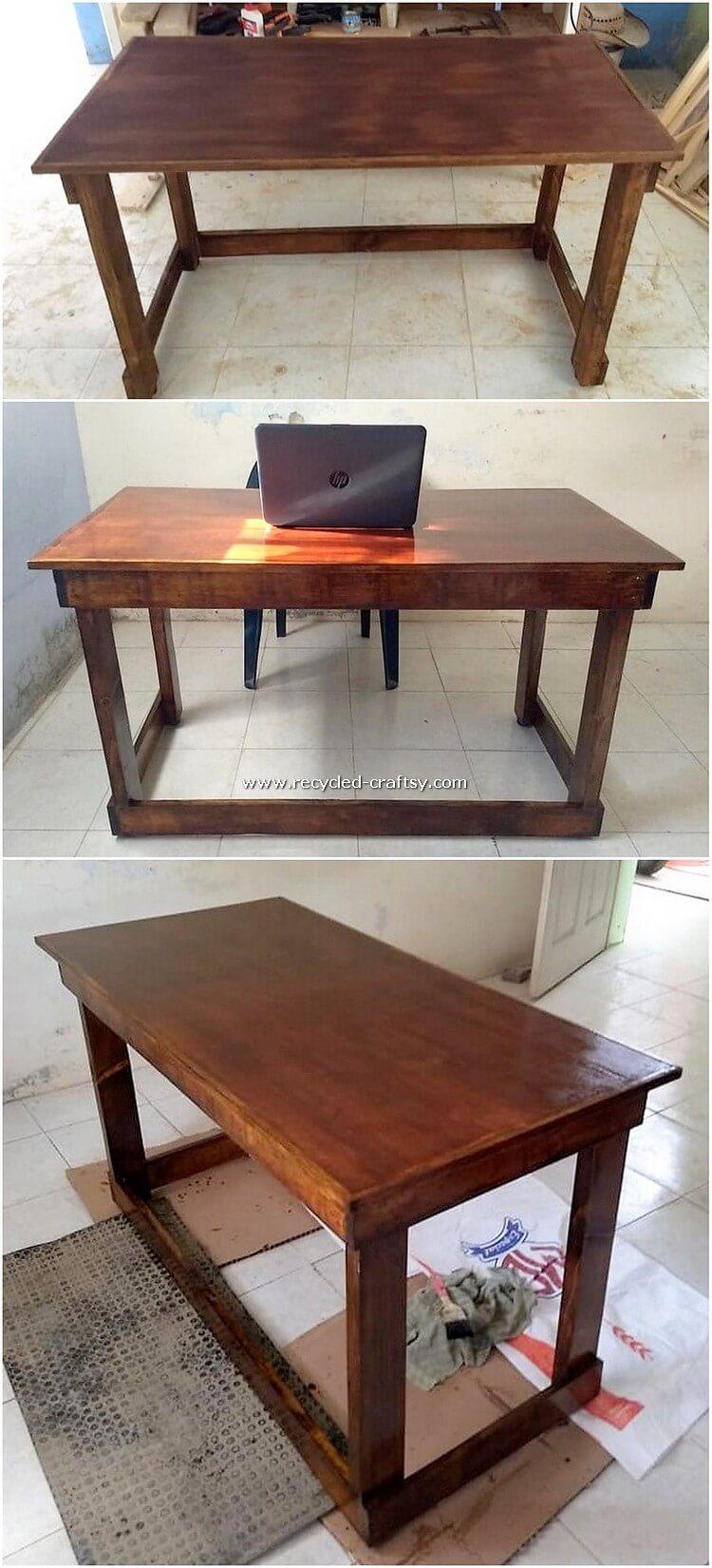 Wooden Pallet Desk Table