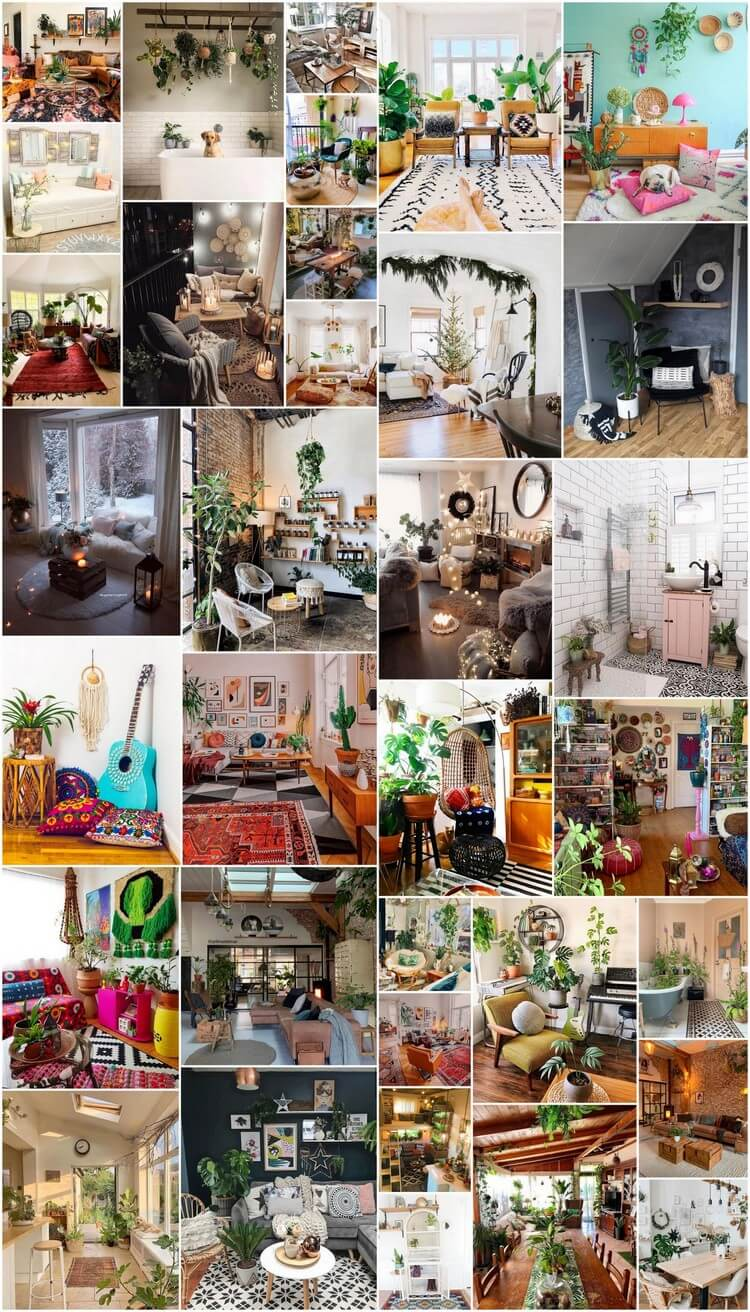 35+ Bohemian Style Interior Design Decor Ideas