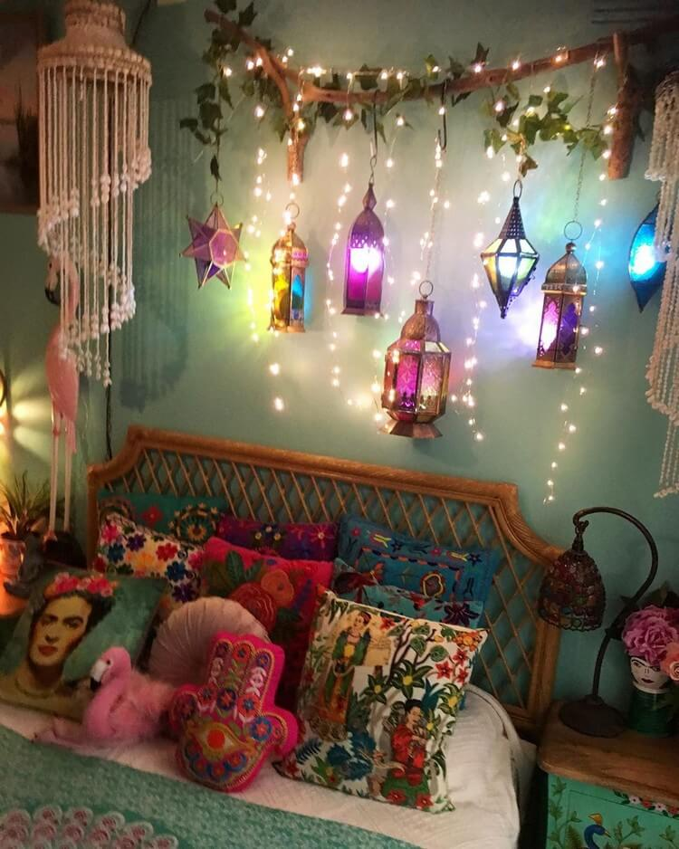Bohemian Bedroom Decor (14)