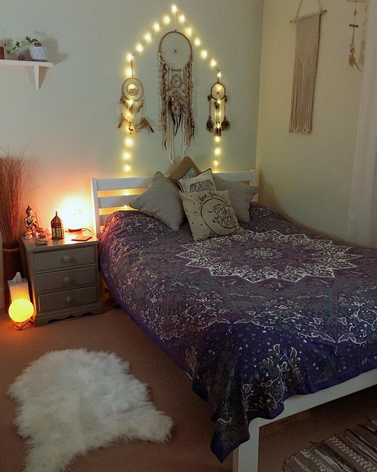 Bohemian Bedroom Decor (19)
