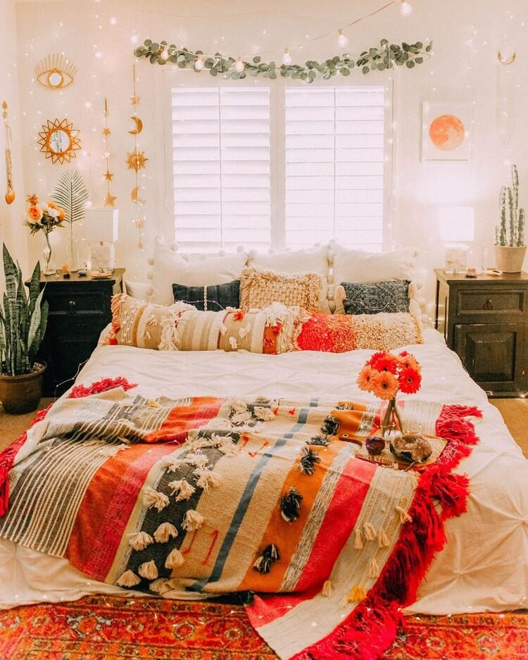 Bohemian Bedroom Decor (44)