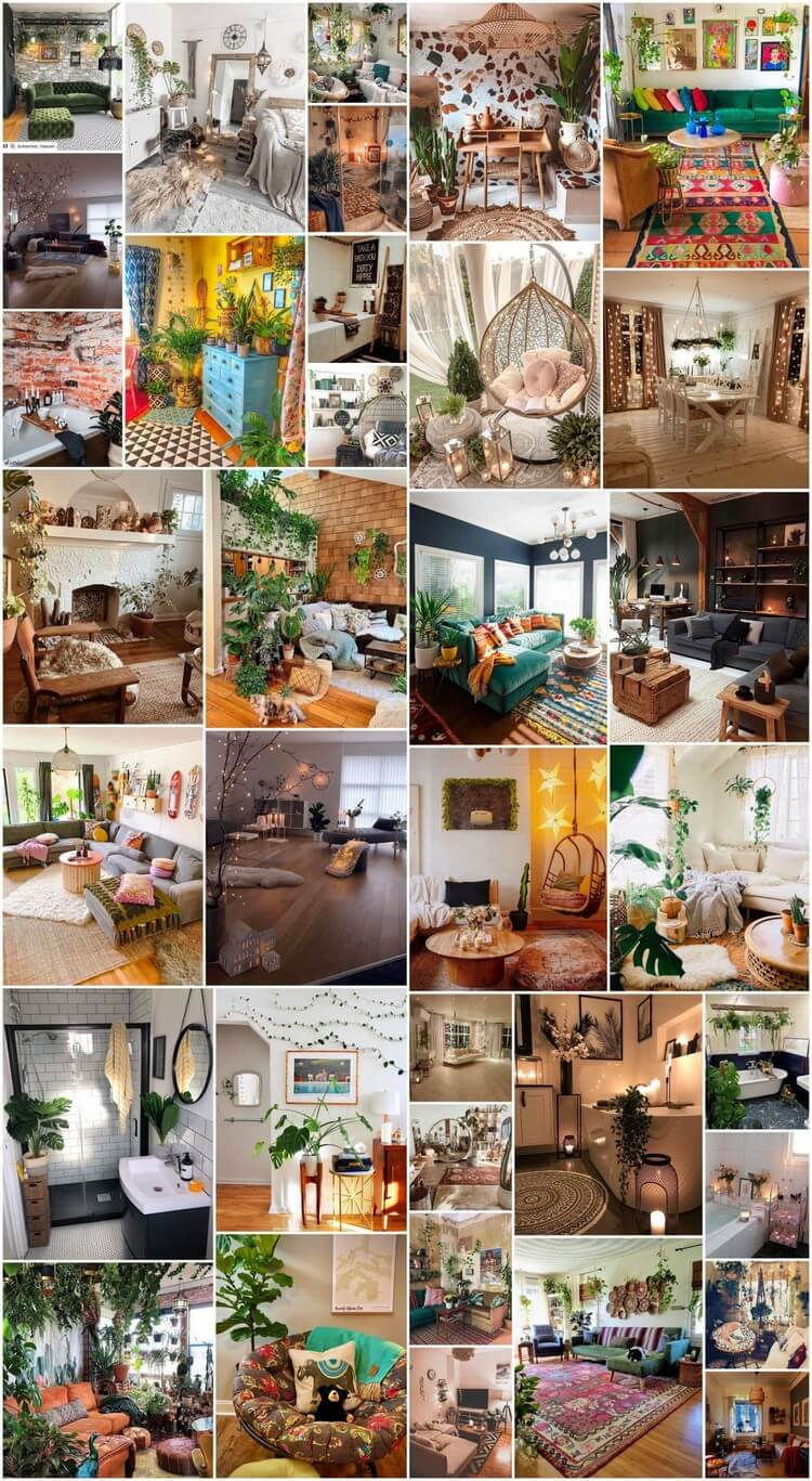 Bohemian Style Home Interior Decorating Designs