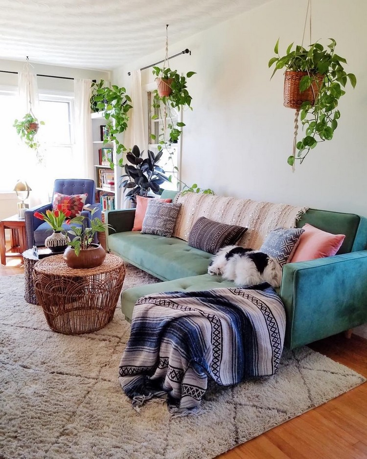 Modern Style Bohemian Interior Design (15)