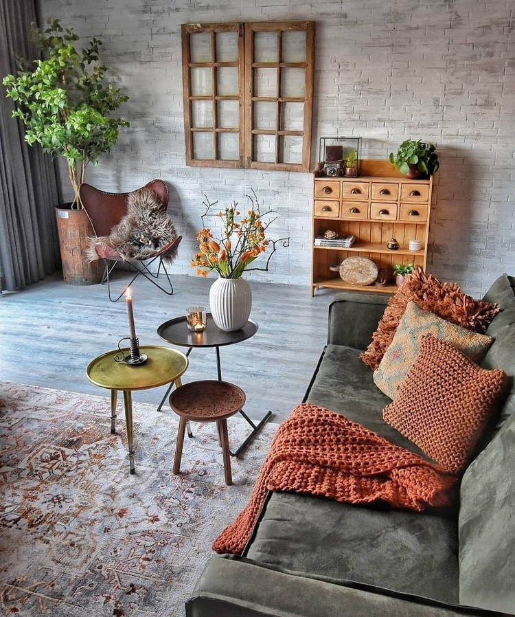 Elegant Bohemian Home Interior Decor Design (18)